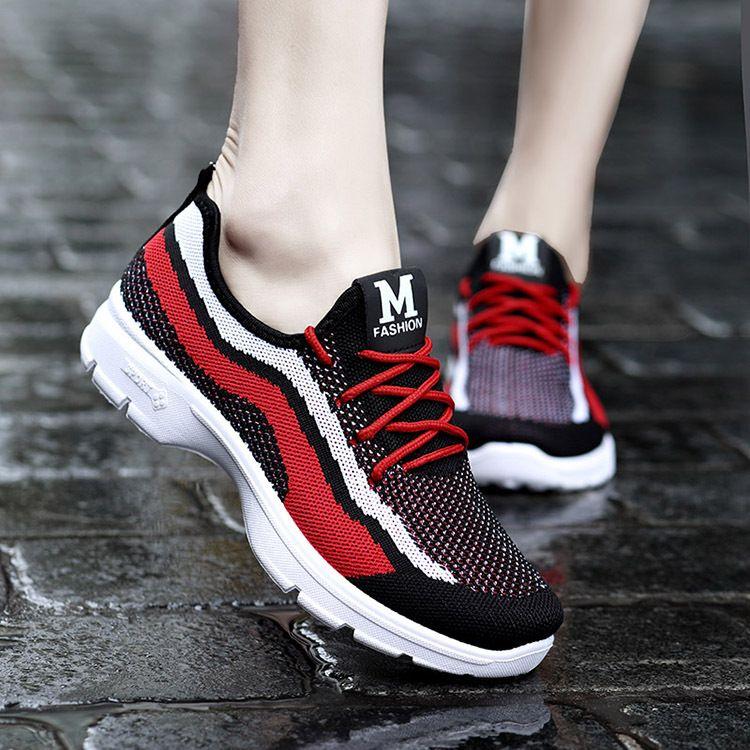 夏季老人鞋女 跳舞软底舒适妈妈运动鞋透气网面鞋凉鞋老年北京鞋