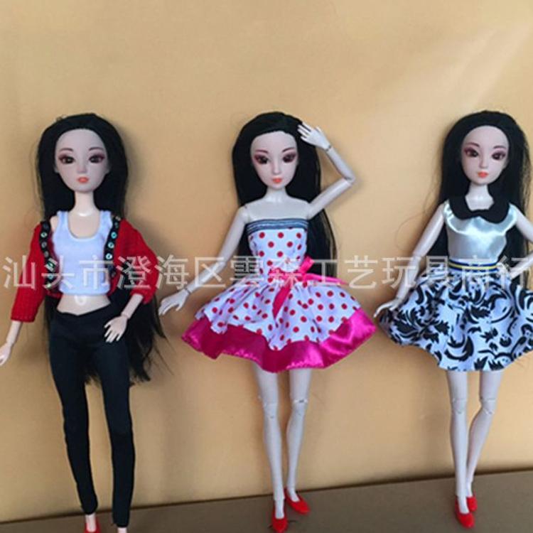 新款芭比娃娃衣服换装时尚短裙休闲衣服套装裙子适合28-30cm娃娃
