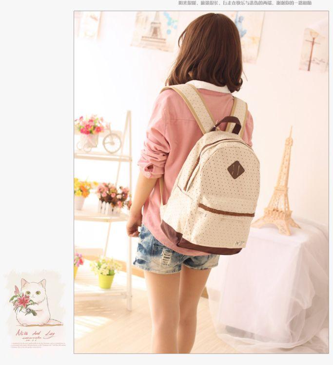 新款韩版包包 双肩包女定制加工批发 收纳包休闲学生书包百搭