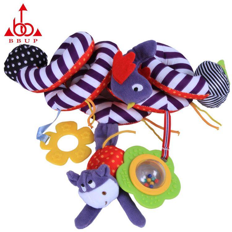 BBUP0-3岁婴儿可爱车挂床绕宝宝益智毛绒玩具厂家货源一件代发