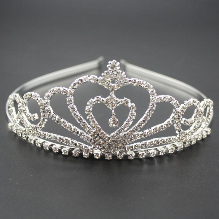 韩国潮流 新款 闪亮迷你镶钻皇冠发箍发饰品 厂家直销