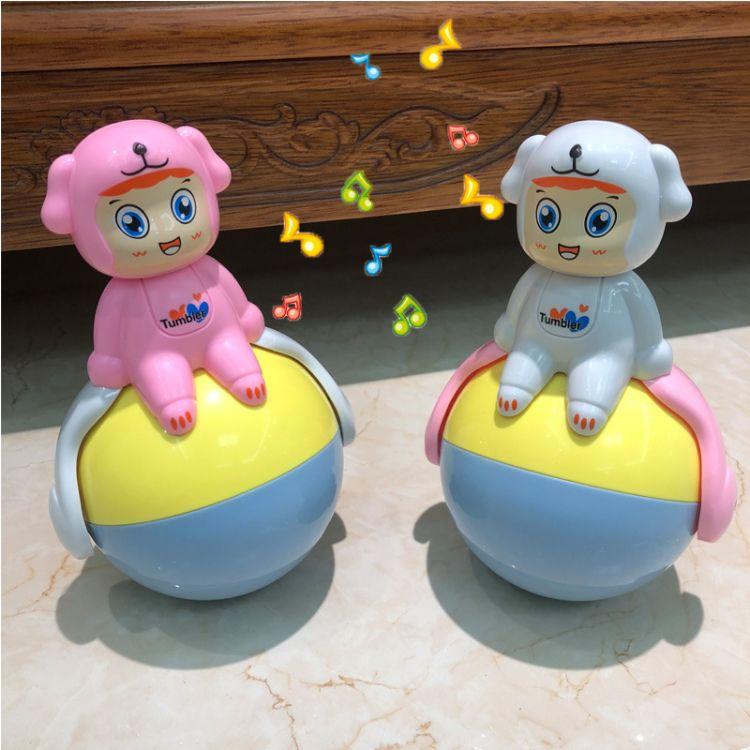 宝宝益智滑行不倒翁玩具大号音乐点头摇摆3-6-12个月婴儿童0-1岁