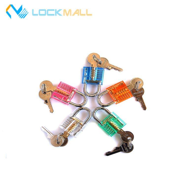 透明锁 迷你透明挂锁 箱包锁水晶挂锁工艺锁 七彩锁头订制