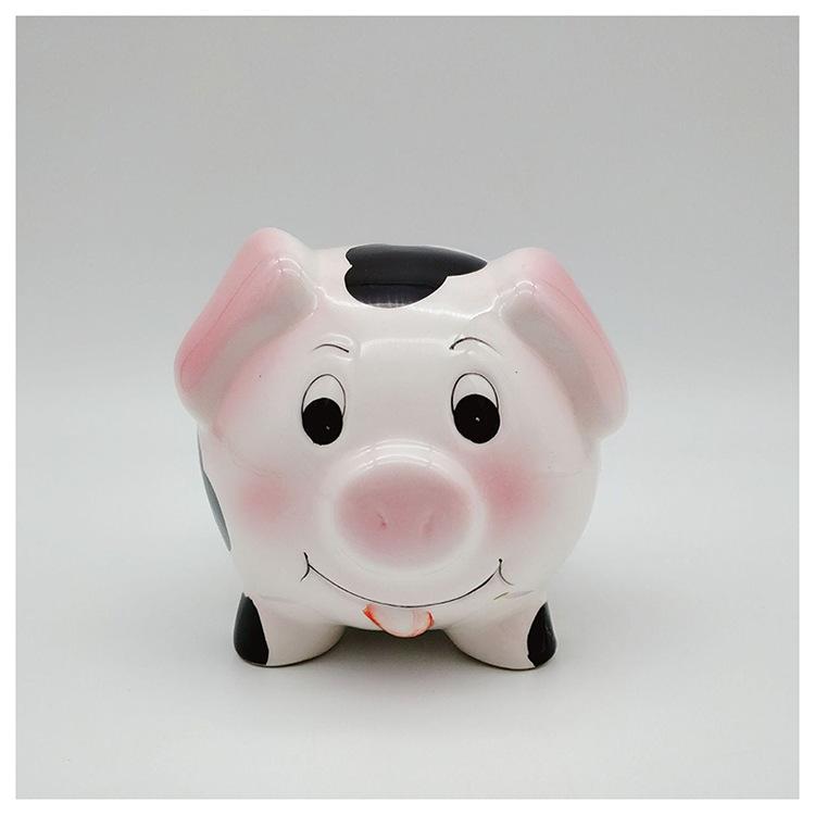 陶瓷存钱罐小猪存钱罐创意厂家直销可定制LOGO