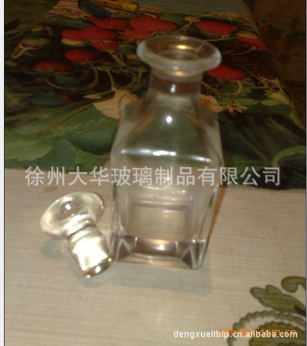 大华 厂家长期生产供应高白料四方玻璃展示瓶 四方酒瓶