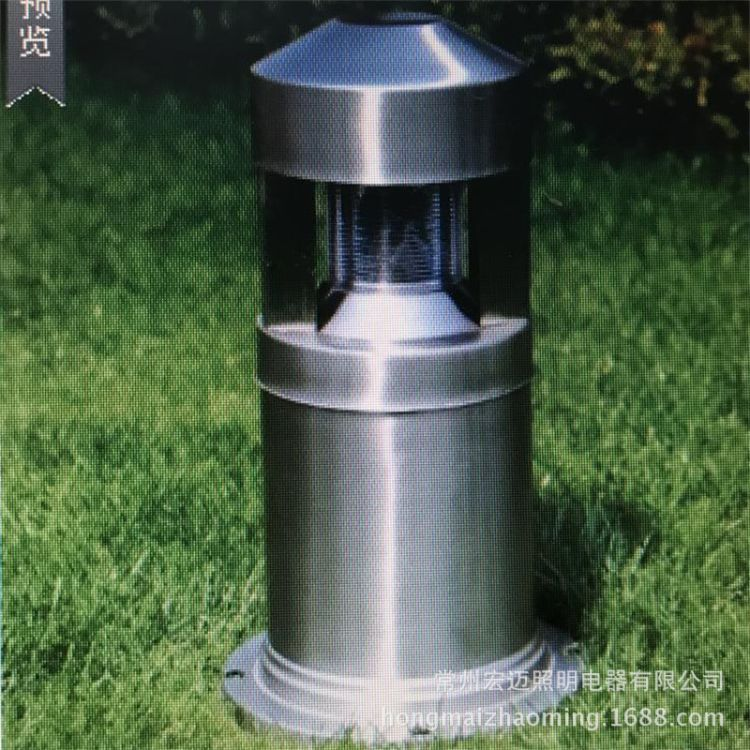 庭院灯 绿化草坪灯 不锈钢户外灯具 现代简约原色不锈钢草坪灯