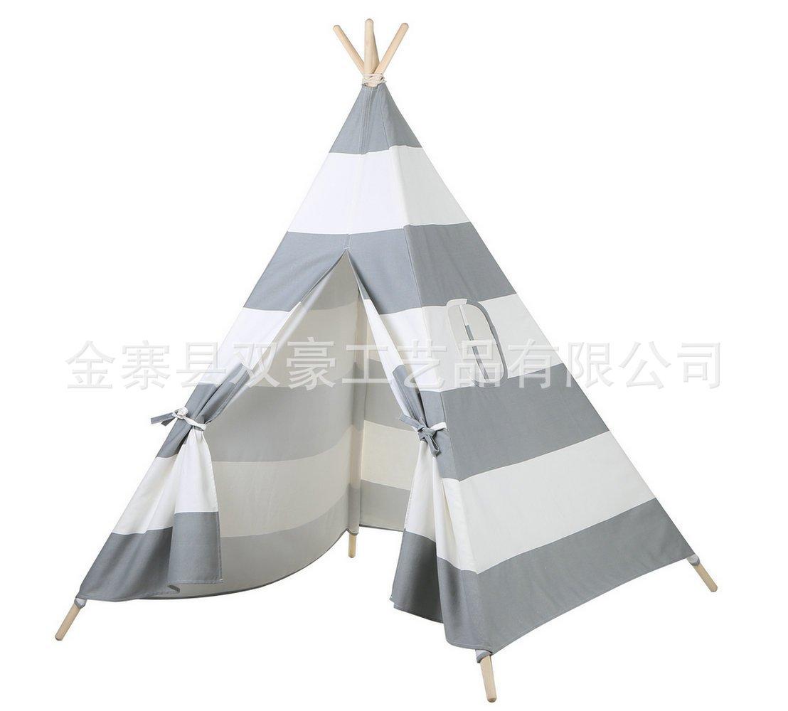 条纹印第安儿童帐篷玩具屋公主房室内游戏屋宝宝帐篷Teepee Tent