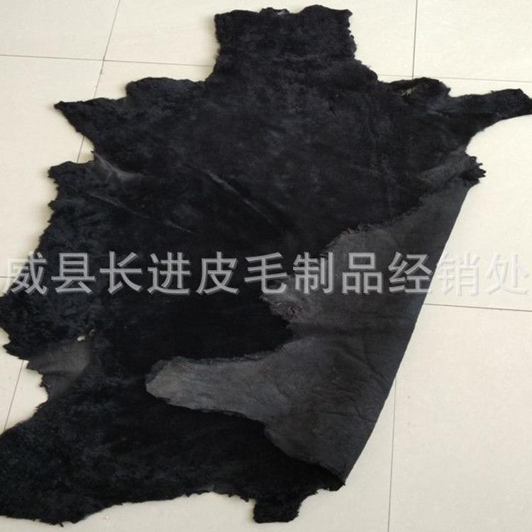 厂家供应澳洲羊皮黑色绵羊皮毛一体各种颜色服装皮鞋里皮可订做