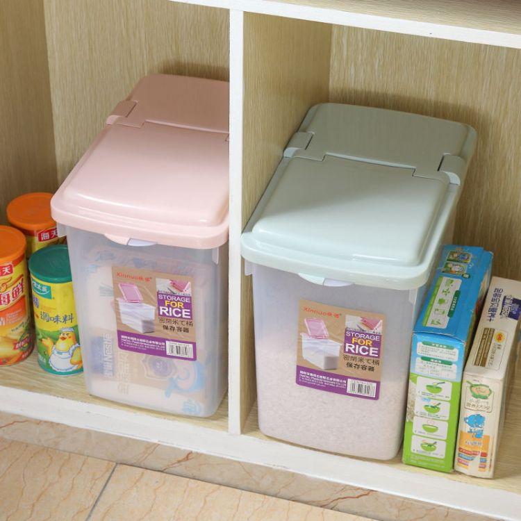 【海得立塑胶】厨房米桶家用加厚带轮储米箱防虫防潮厂家批发