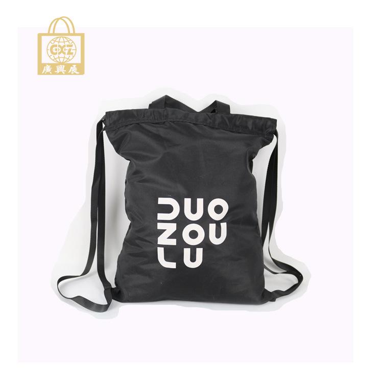 涤纶棉麻混纺色丁布袋背包 束口拉绳缩口小礼品广告包装环保袋子