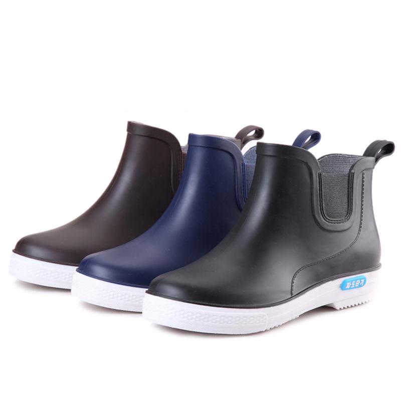 新款男士晴雨鞋雨靴水鞋低筒时尚韩版韩国低跟厂家厨房洗车水鞋