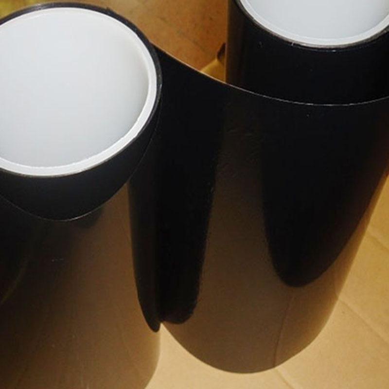 PET黑膜、PET哑面完全不透光遮光胶、黑黑单面胶带 自带离型纸