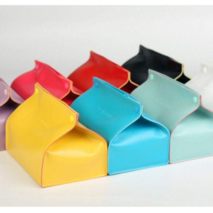 PU皮革纸巾盒 家居抽纸盒 创意北欧式纸巾收纳盒 可定制LOGO