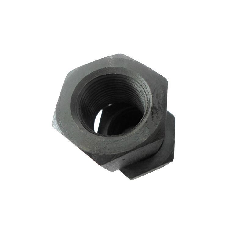 批发销售 高强度六角螺母 12.9级六角螺母 国标细牙黑色螺母