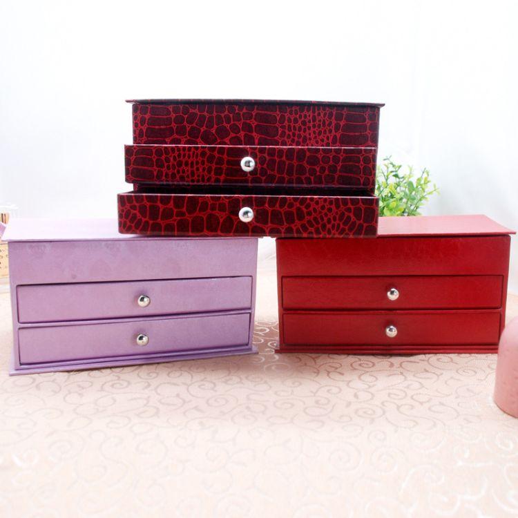 办公桌面收纳盒用品大号多层抽屉文件夹文具室木质储物书桌置物盒