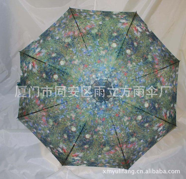 艺术图画热转印雨伞 艺术伞 工艺女士直骨伞 手开 自动伞