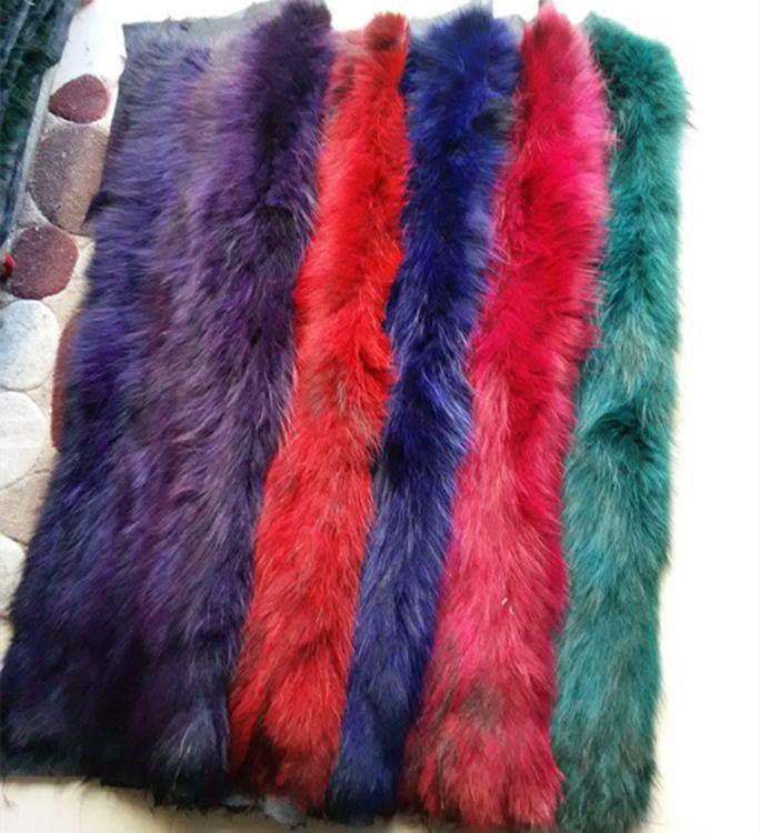 厂家直销新款貉子毛拼皮褥子 皮草服装面料  彩色
