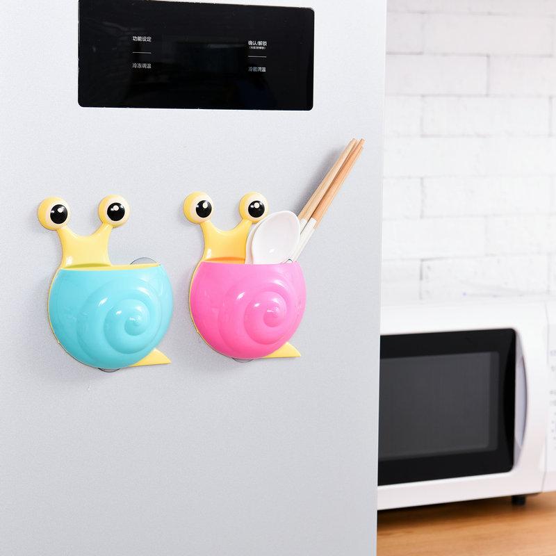 跨境货源蜗牛牙刷牙膏架 可爱卡通吸盘置物架 创意动物吸盘牙刷架
