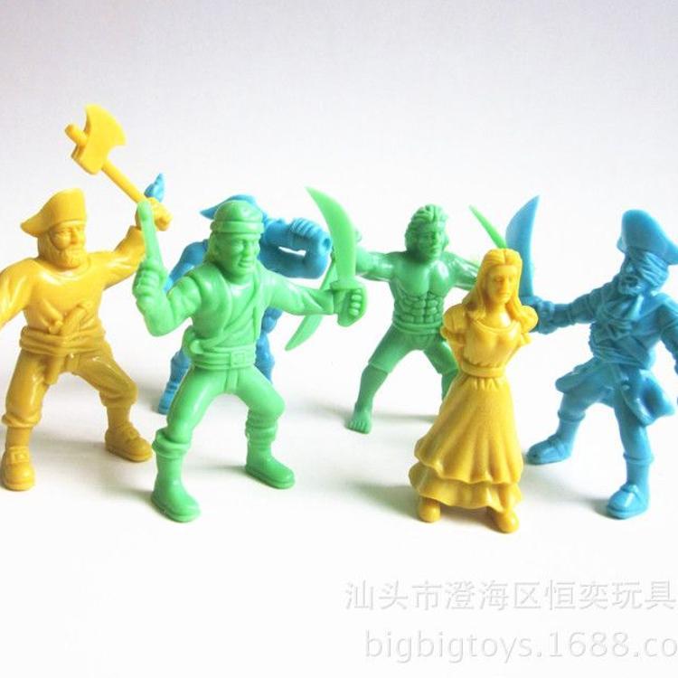 6款小人物玩偶模型  海盗和公主  赠品小玩具  四色随机发货
