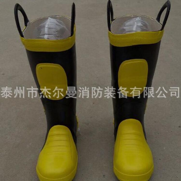 消防员灭火防护靴 灭火靴 检测灭火靴 带钢头钢板