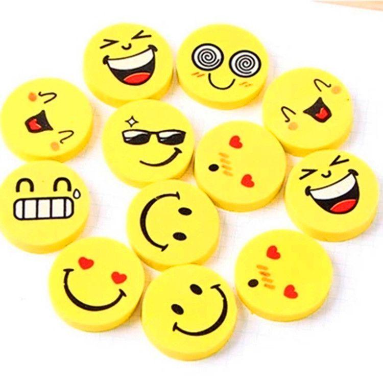 卡通创意款 小学生学习奖品 可爱笑脸橡皮擦 批发爱好表情橡皮檫