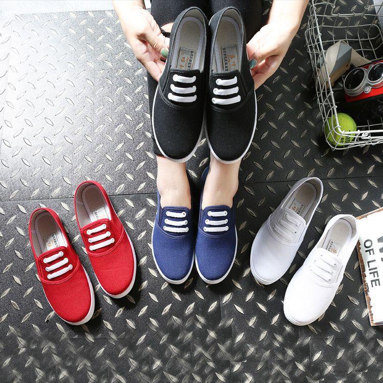厂家直销休闲百搭女单鞋低帮舒适透气学生鞋韩版潮流板鞋帆布鞋
