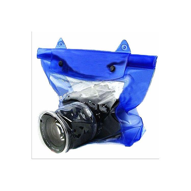 厂家现货供应便携式夏季漂流单反相机数码相机蓝色绿色网格防水袋