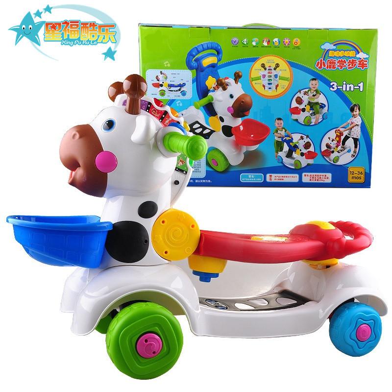 婴幼儿手推学步车玩具 多功能声光益智脚踏车可调速防侧摔