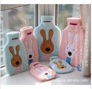 冬日必备~砂糖兔热水袋/暖手宝 可脱卸拆洗 2色可选 批发