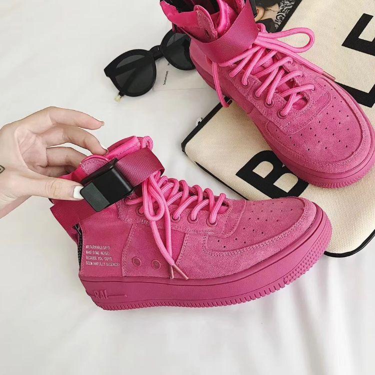 空军一号马丁靴厚底真皮网面短靴透气嘻哈街舞板鞋高帮运动休闲鞋