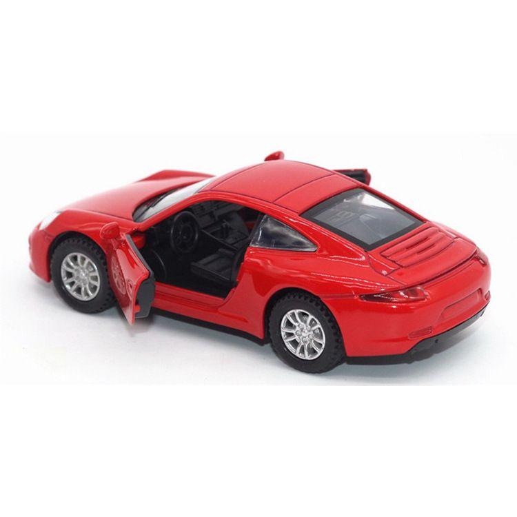 1:32仿真合金跑车模型 保时捷911回力玩具车甜品烘焙蛋糕装饰摆件