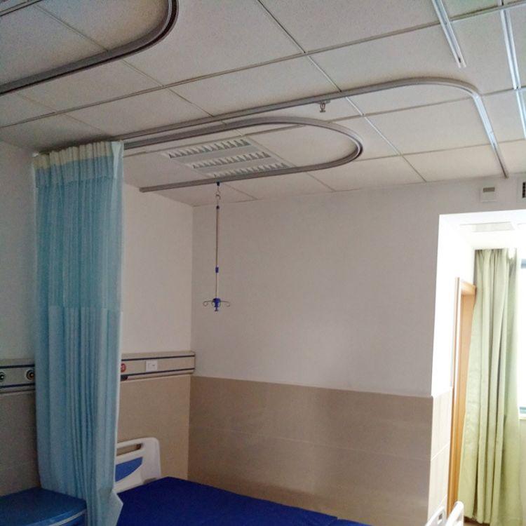 医院病房输液吊轨天轨点滴架 病床围帘隔帘 铝合金输液轨道吊架