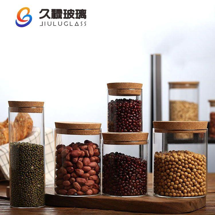 厂家高硼硅玻璃储物罐杂粮花茶玻璃罐醪糟酵素糖果蜂蜜食品密封罐