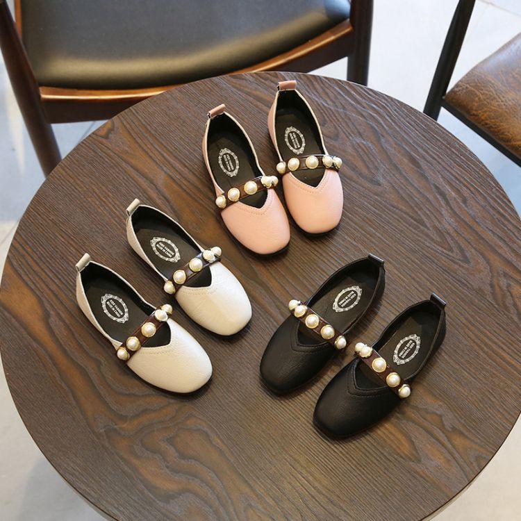 童鞋2018春季新款儿童单鞋女童公主鞋牛筋底套脚豆豆鞋中大童鞋子