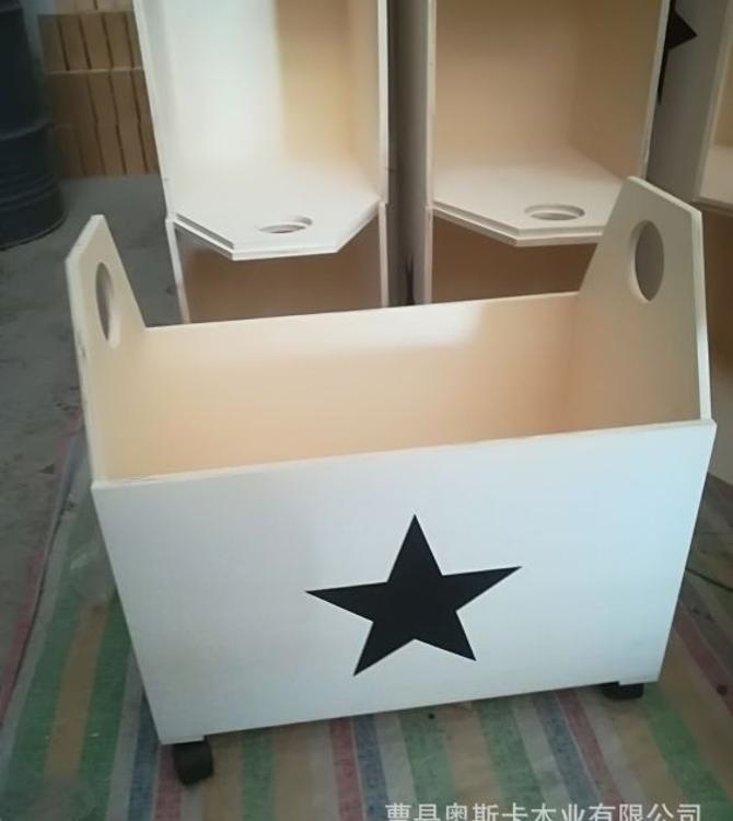 厂家直销 木质收纳箱 可移动储物框 木制生活用品丝印图案可定制