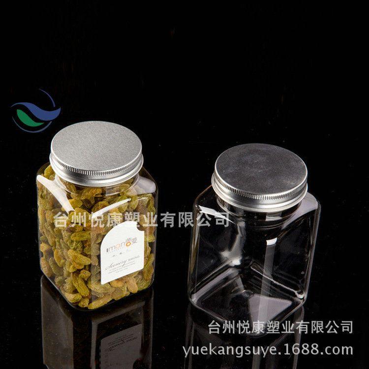 6.2*12 厂家供应PET透明塑料方瓶罐 坚果开心果200克蜂蜜食品罐