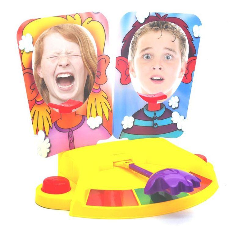 直销拍脸双人奶油打脸机Pie face showdown 整蛊搞笑对战玩具批发