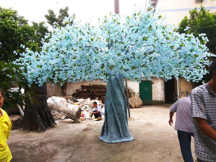广州厂家直销仿真樱花树婚庆用品桃花树 室内樱花树配件 各种花树
