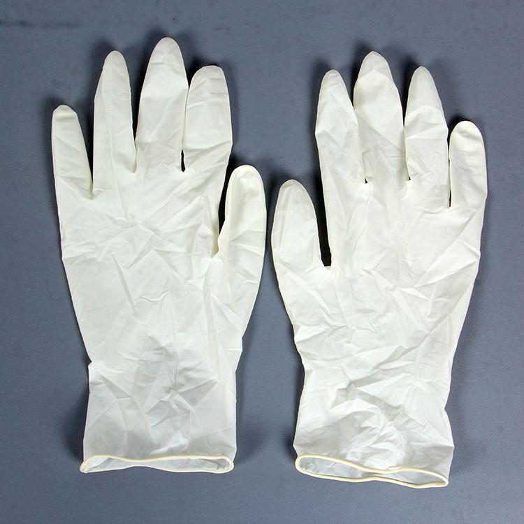 一次性使用橡胶检查手套(光面有粉)乳胶手套 专业厂家