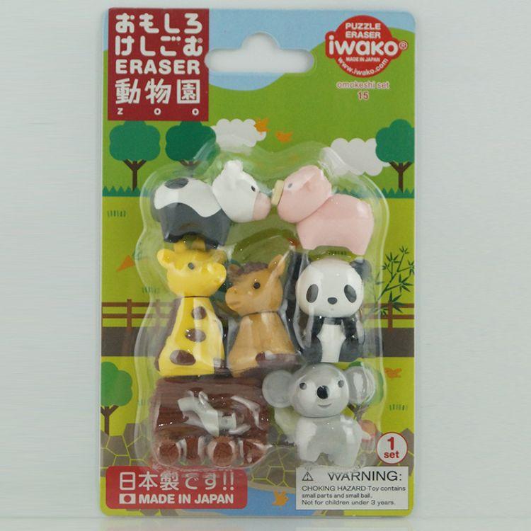 日本IWAKO可拆卸趣味橡皮擦可爱动物 牛排造型橡皮擦套装 批发