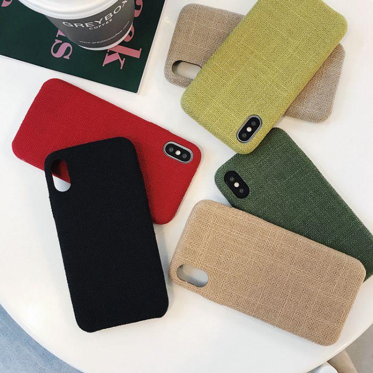 秋冬纯色软壳苹果x手机壳iPhone7plus/8plus/6创意个性套情侣款潮