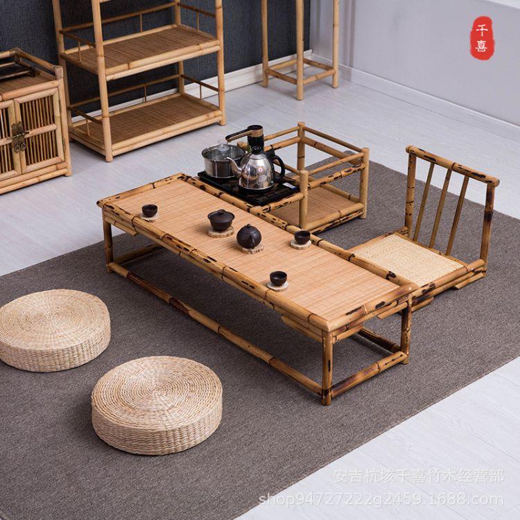 特价日式榻榻米茶几竹藤小桌子飘窗桌椅仿古炕桌炕几茶桌茶台矮桌