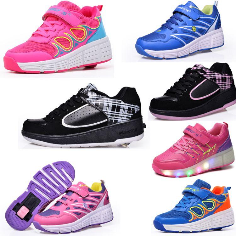以希暴走鞋轮子鞋男童儿童带轮运动鞋四轮鞋隐形滑轮鞋爆走鞋