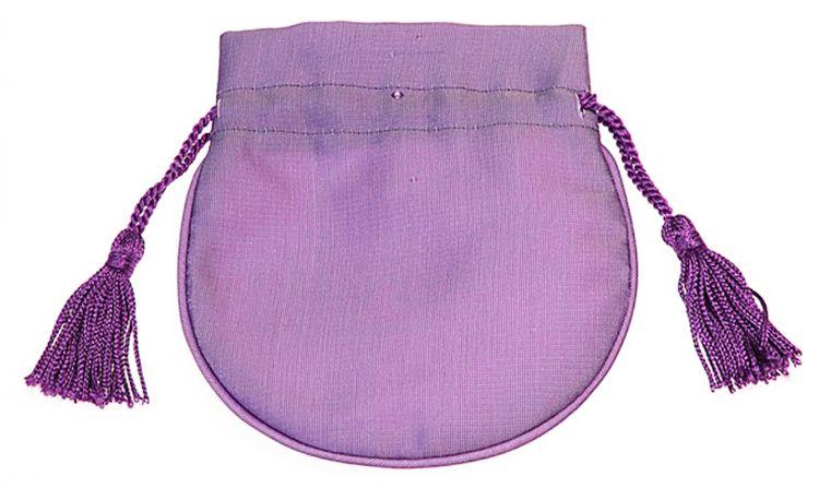 厂家定制色丁布零钱钥匙束口袋方便携带流苏吊坠束扣简洁大方