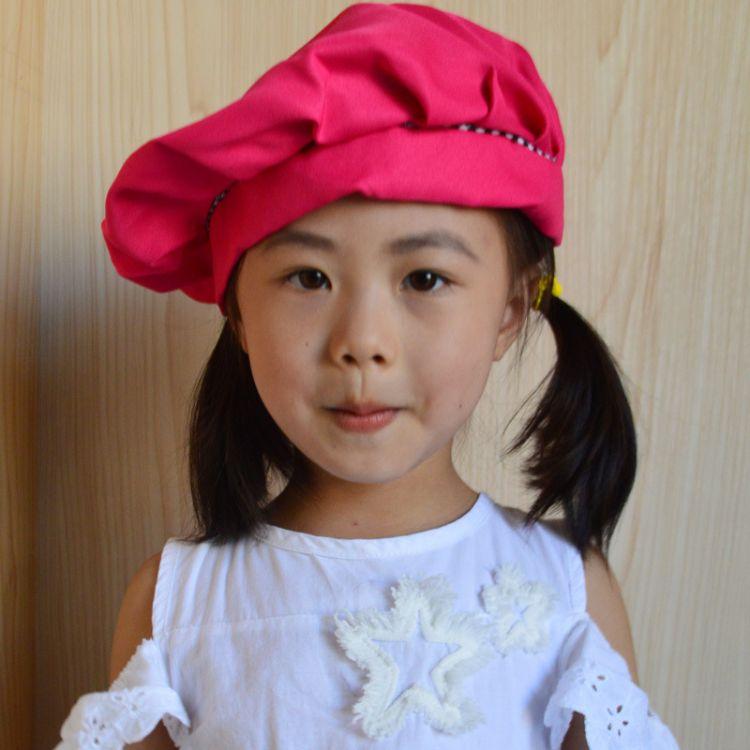 幼儿园宝宝课外活动帽子 88004儿童活动防污帽宝宝无檐套头帽