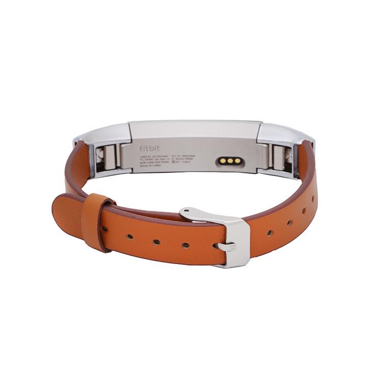 新款真皮扣式表带适用于fitbit alta智能手环自带扣腕带