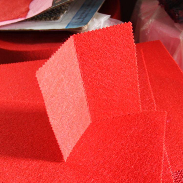 厂家直销彩色毛毡布幼儿园手工DIY制品背胶毛毡无纺布针刺棉批发