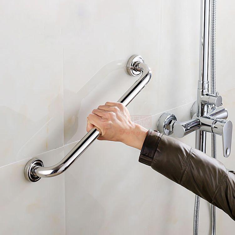 浴室扶手不锈钢304 螺丝连接型镜面抛光卫浴扶手可来样定制