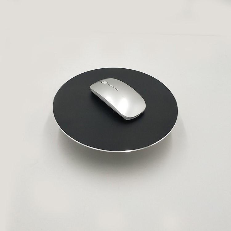 可定制 圆形铝合金金属鼠标垫 双面铝制批发订制logo广告三边高光