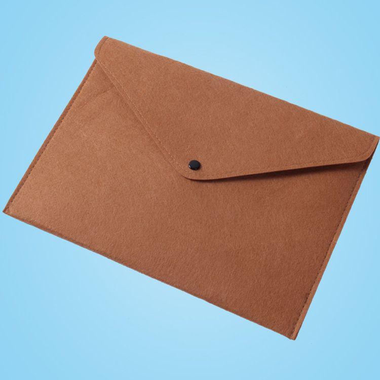 文件袋毛毡包可定制A4会员资料袋礼品包装袋厂家直销